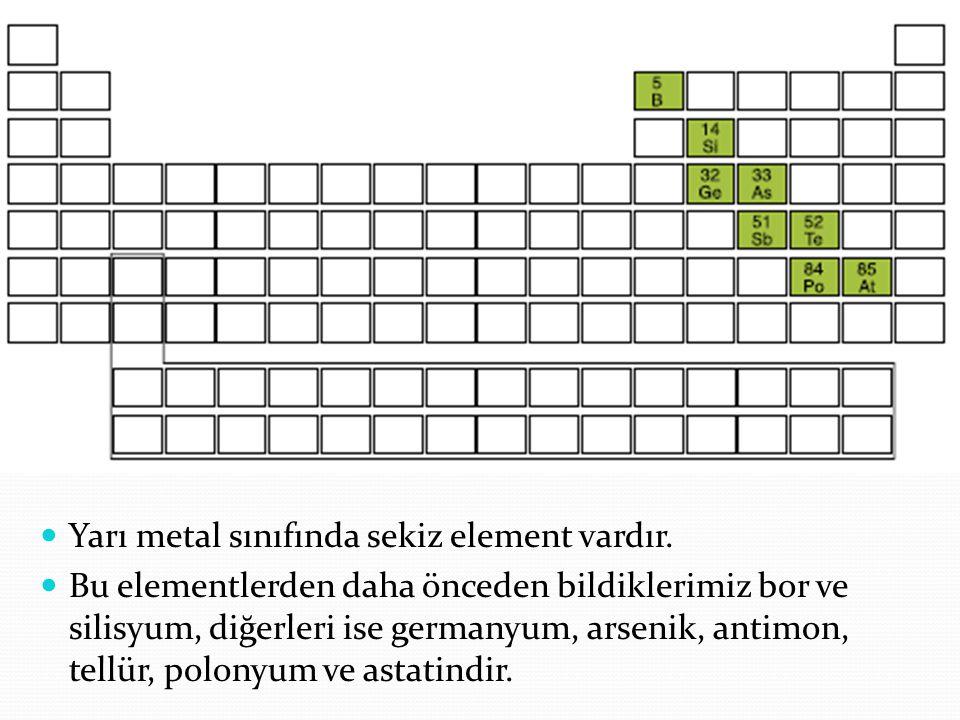 Yarı metal özellikleri