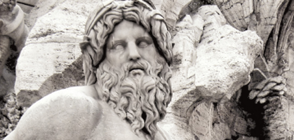 Zeus'un bir büstü
