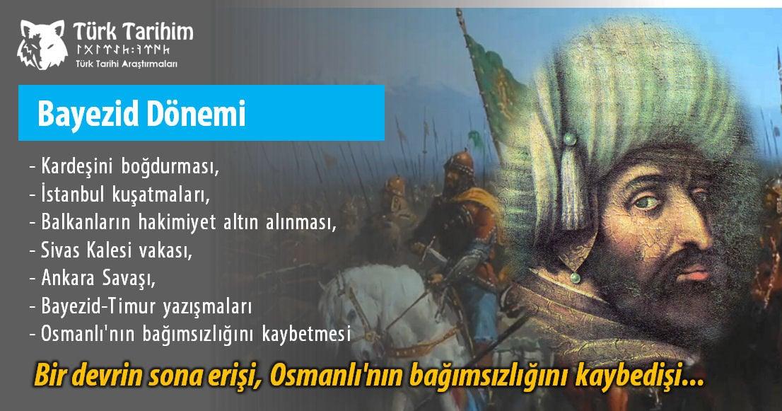 Yıldırım Beyazıd İstanbulu kuşatan ilk Osmanlı Padişahıdır.