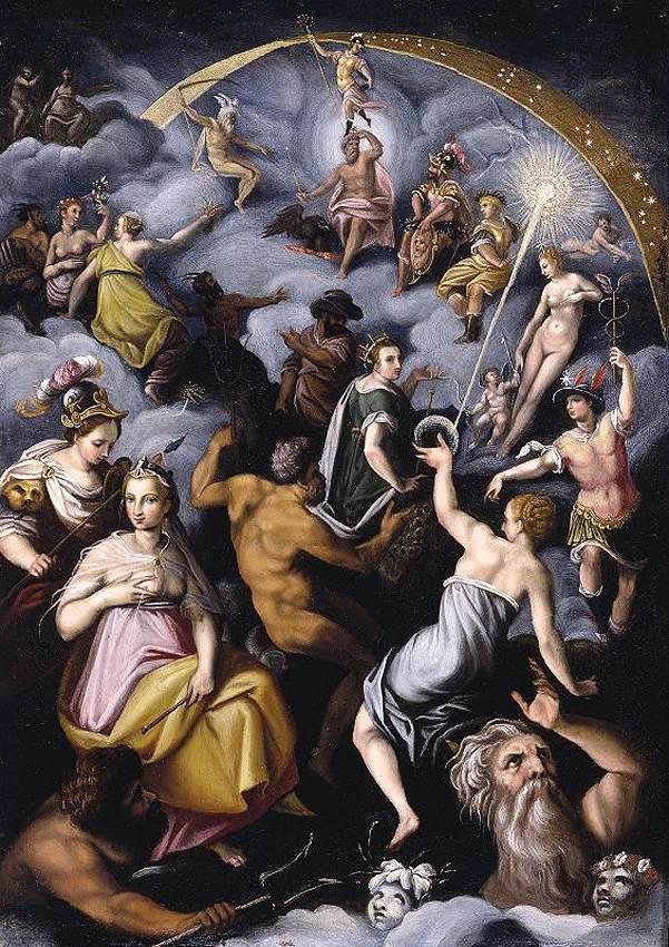 Jacopo Zucchi - The Assembly of the Gods tablosu