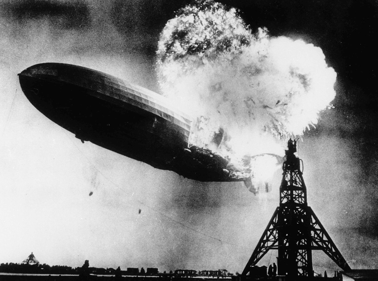 Hindenburg Zeplin Kazası Fotoğrafları