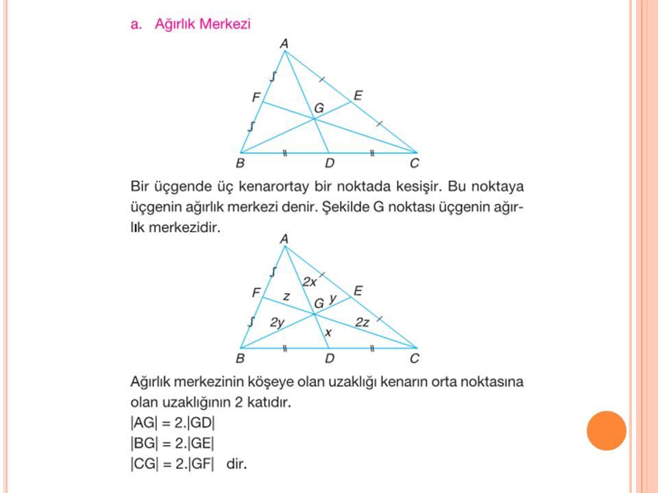 9. Sınıfı üçgende ağırlık merkezi nasıl bulunur