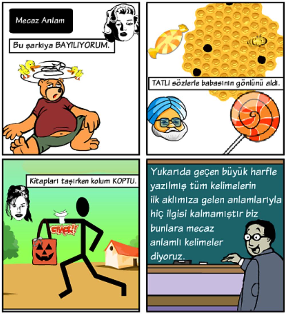 Mecaz anlam örnekleri