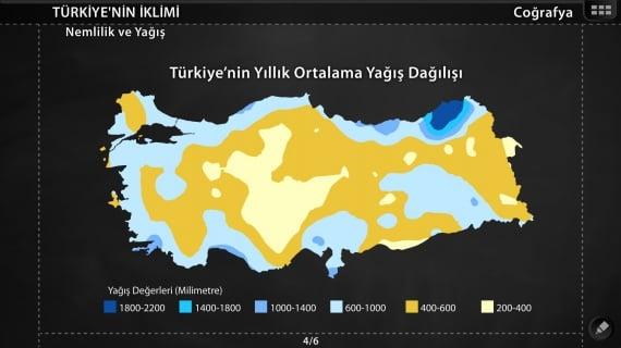 Türkiye Nemlilik ve Yağış Haritası