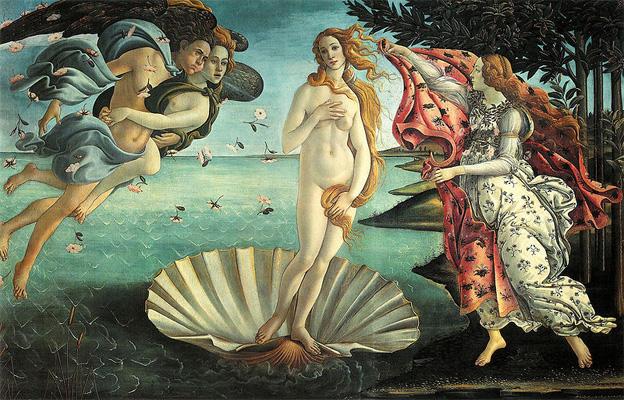 Sandro Botticelli,Venüs'ün Doğuşu,1486