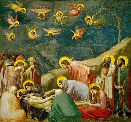 Giotto di Bondone,İsa'ya Ağıt,1306