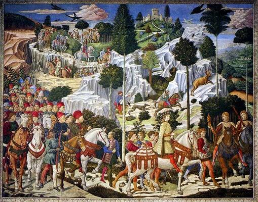 Benozzo Gozzoli,Balthazar Magnus'un Geçişi, 1461