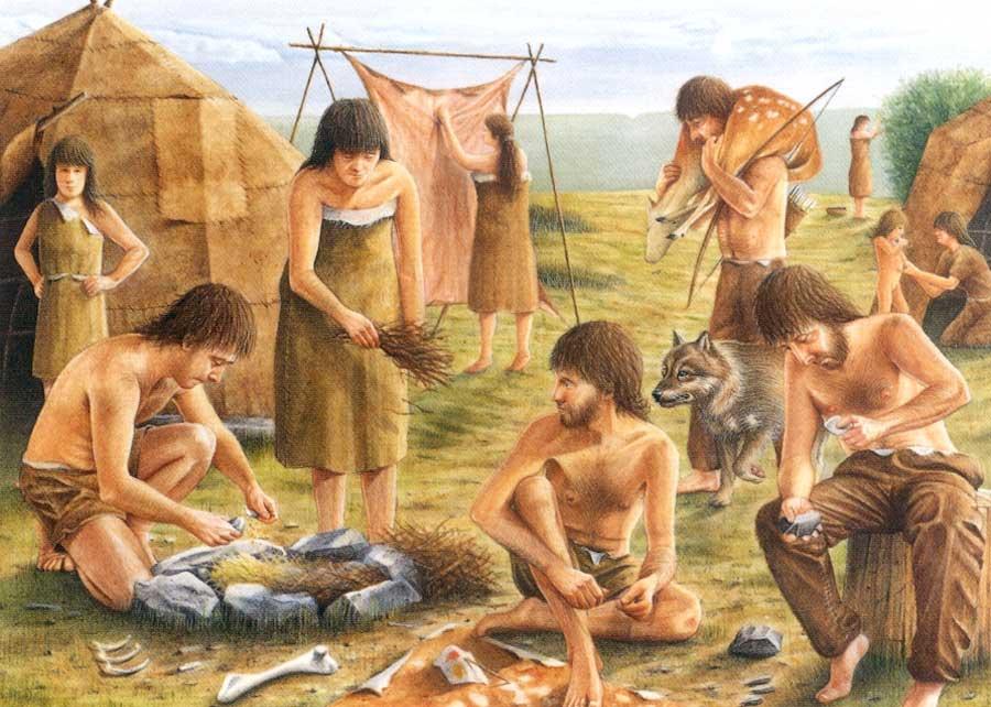 Taş devrinde insanların günlük hayatı