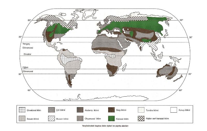 Dünya iklim haritası