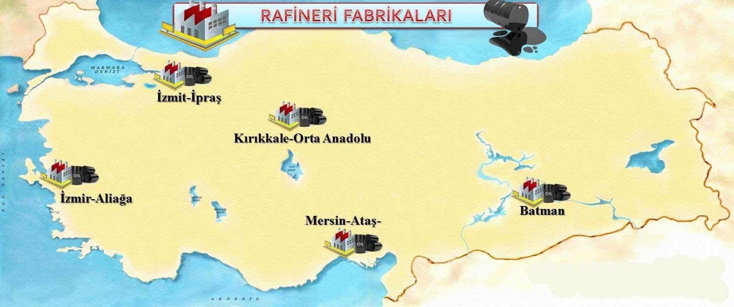 Türkiye Petrol Rafineri Haritası