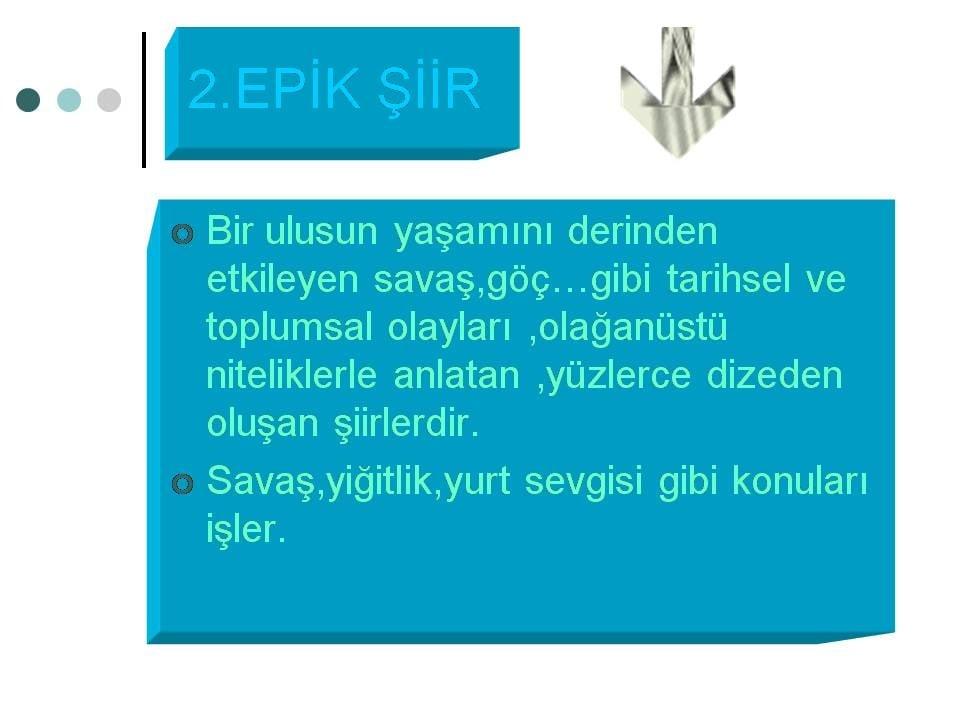 Epik Şiir