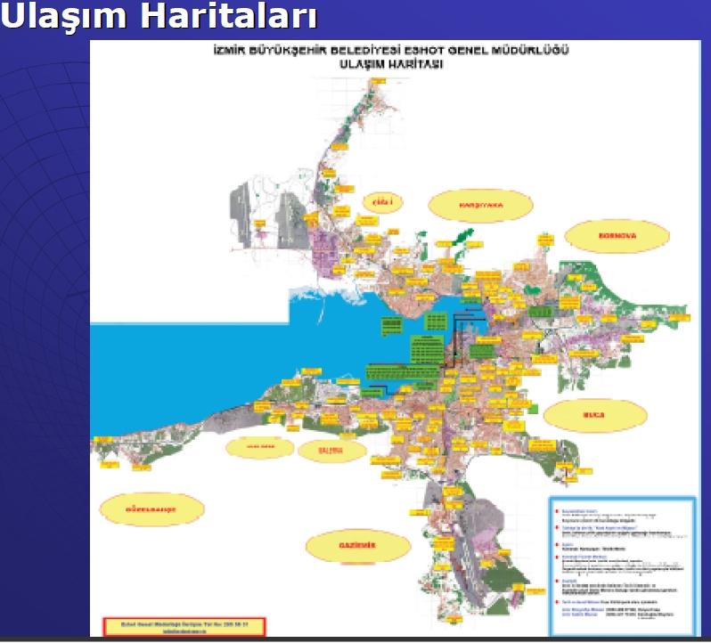 Ulaşım haritası örneği