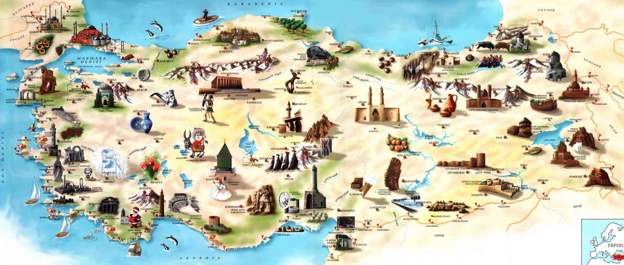 Turizm haritası örneği