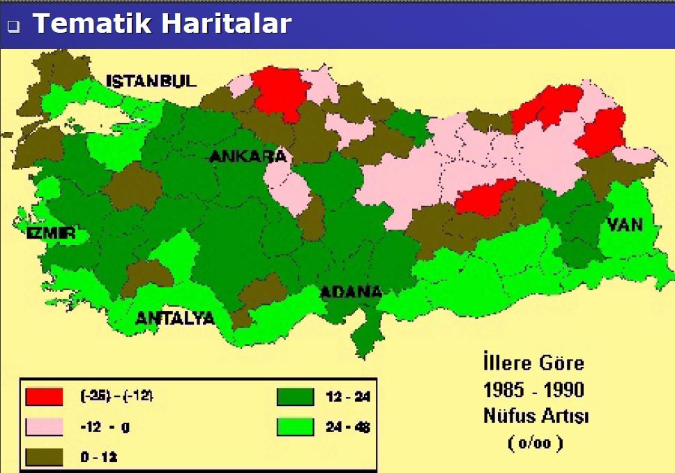 Tematik harita örneği