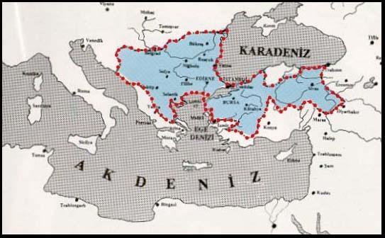 Yıldırım Bayezid Zamanında Osmanlı Toprakları