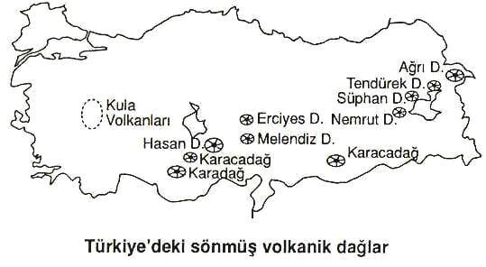 Doğu Anadolu Volkanik Dağları Haritası