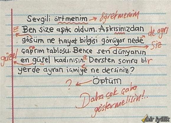 Öğretmene Mektup Örneği :)