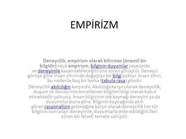 Empirizm Nedir