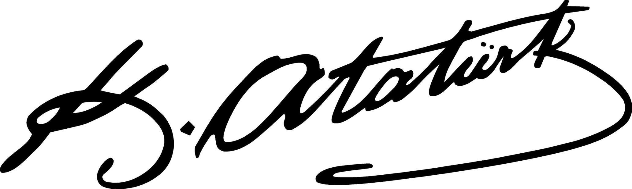 Mustafa Kemal Atatürkün İmzası