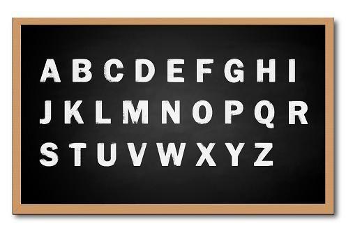 İngiliz Alfabesindeki Harfler