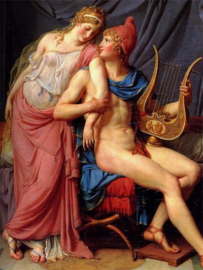 Helen ve Paris'in Aşkı (Ayrıntı) Jacques-Louis David, 1788