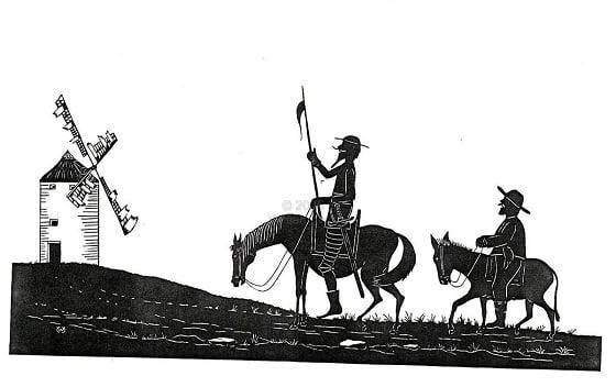 Dünyadaki İlk Modern Roman ÖrneğiCervantes'in Don Kişotisimli eseridir.