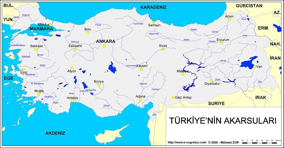 Türkiye Akarsu Haritası
