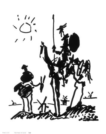 Picassonun Don Kişot Resmi