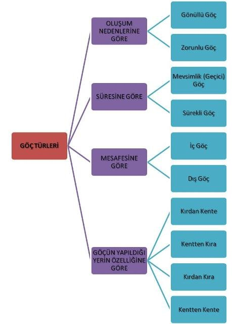 Göç Çeşitleri Kavram Haritası