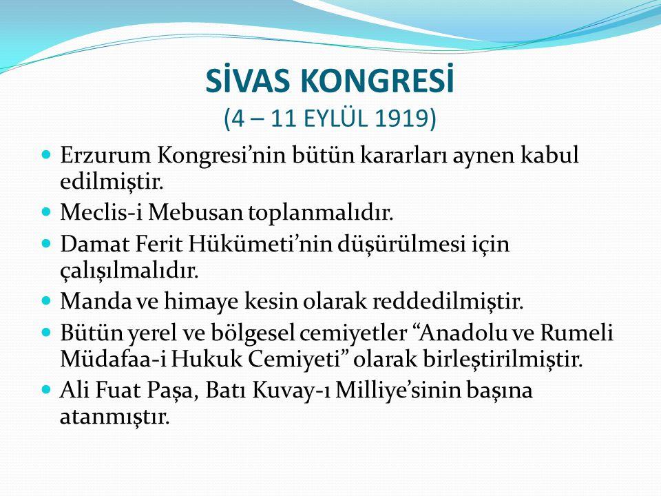 - Sivas Kongresi -