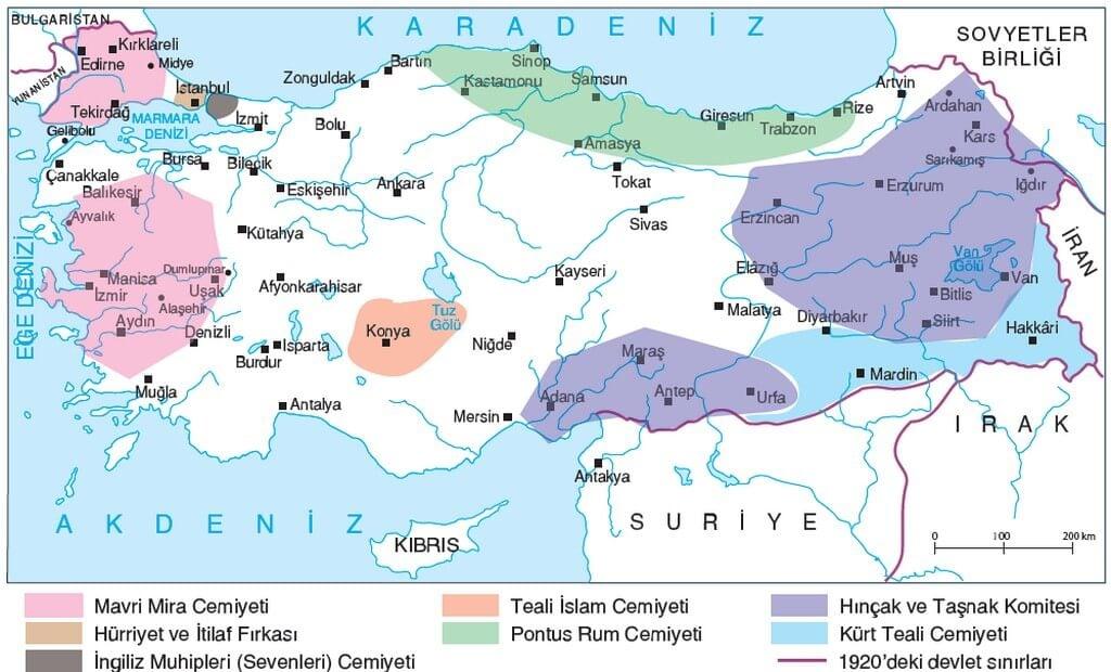 ZARARLI CEMİYETLER Haritası