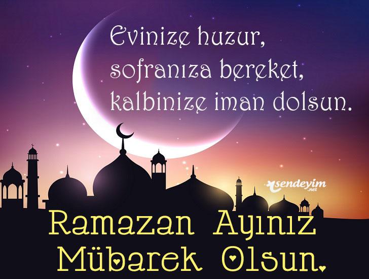 Evinize huzur, sofranıza bereket, kalbinize iman dolsun. Hayırlı ramazanlar