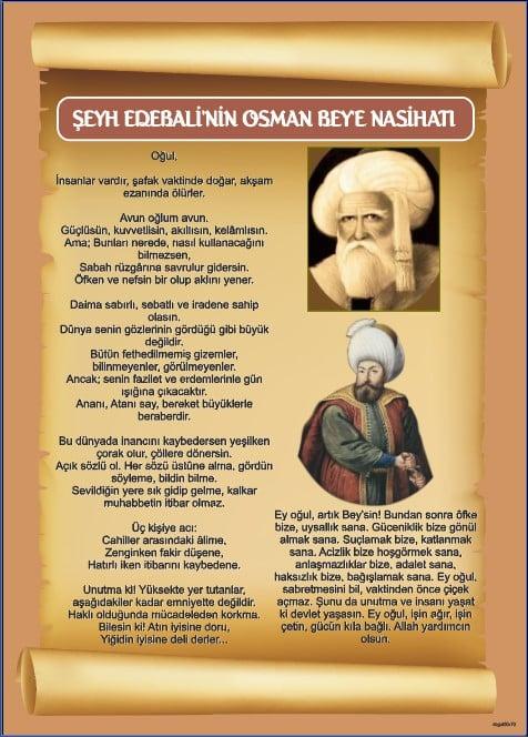 Şeyh Edebalinin Osman Beye Nasihati