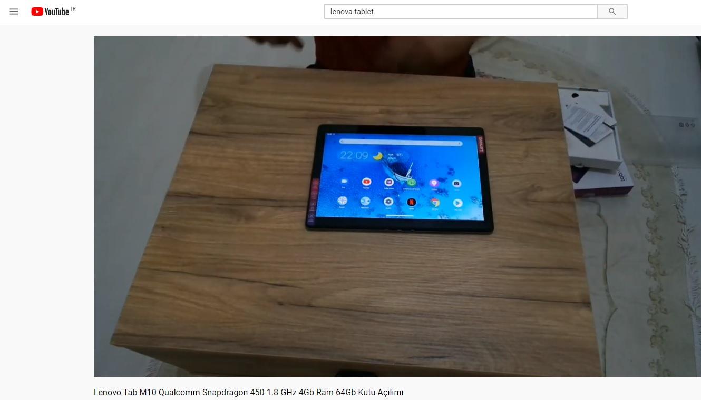lenova tablet - kutu açılımı