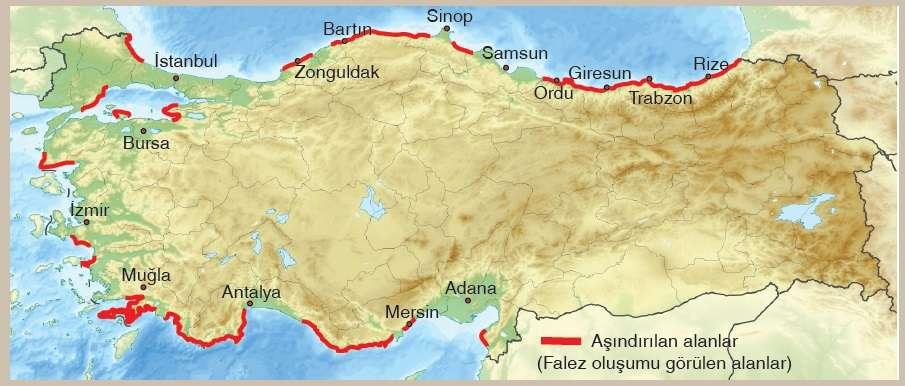 Türkiye Falez (Yalıyar) Haritası