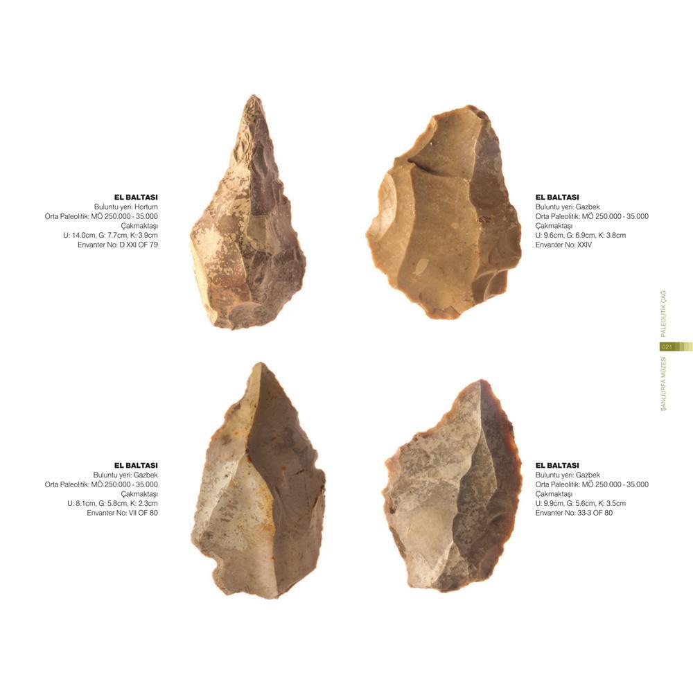 Paleolitik dönem el baltası buluntuları örnekleri
