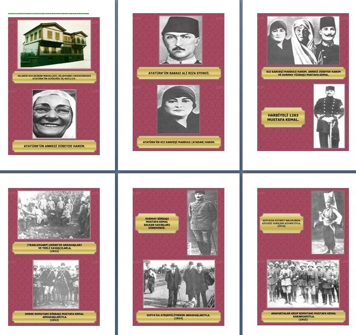 Mustafa Kemal Atatürk'ün Hayatının Kronolojik Resimlerle Anlatımı