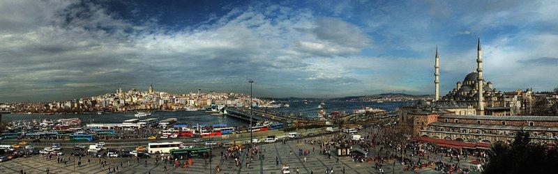 İstanbulun Panoramik Fotoğrafı