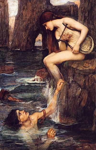 John William Waterhouse'un The Siren (Siren) adlı tablosu