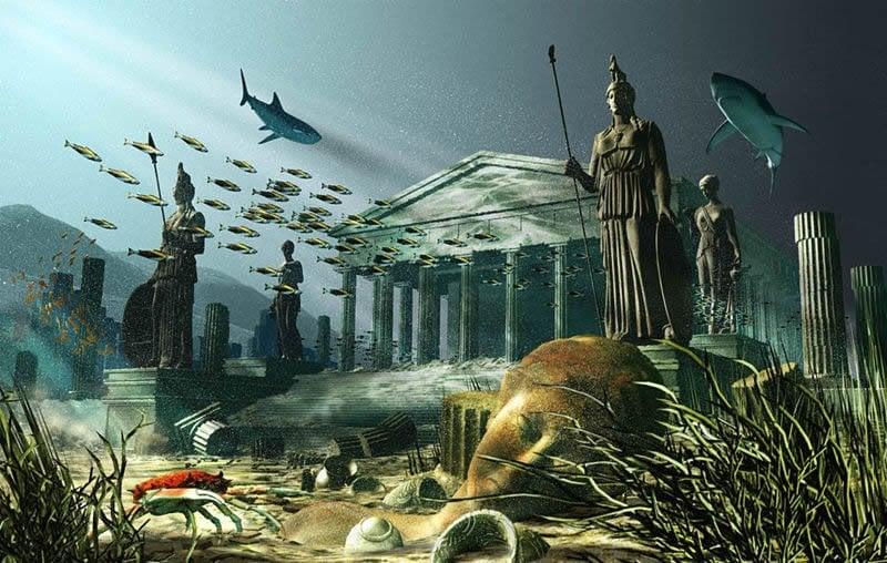 Batık ülke Atlantis..
