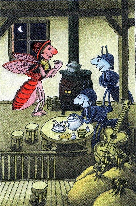 La Fontaine Ağustos Böceği ile Karınca Masalı