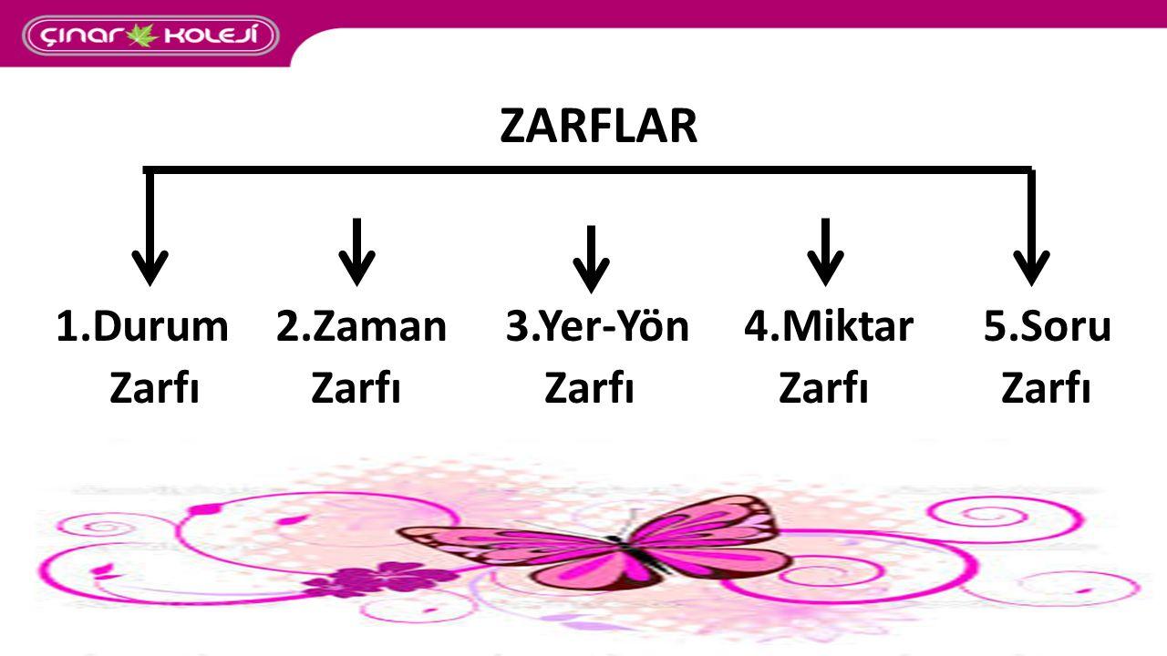 Zarf çeşitleri şeması