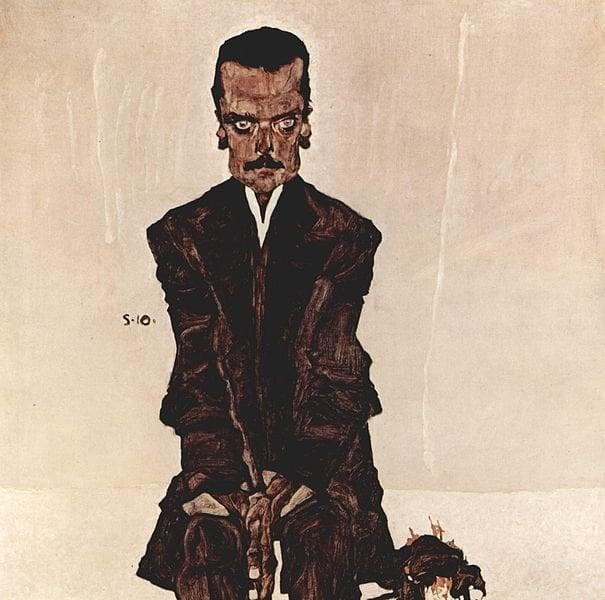 Dışavurumcu resim örneği: Eduard Kosmack ın portresi, Egon Schiele