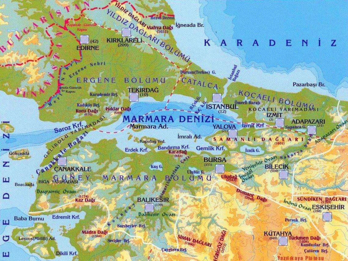 Marmara Denizi ve Boğazlar