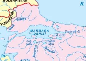 Marmara bölgesi akarsuları haritası
