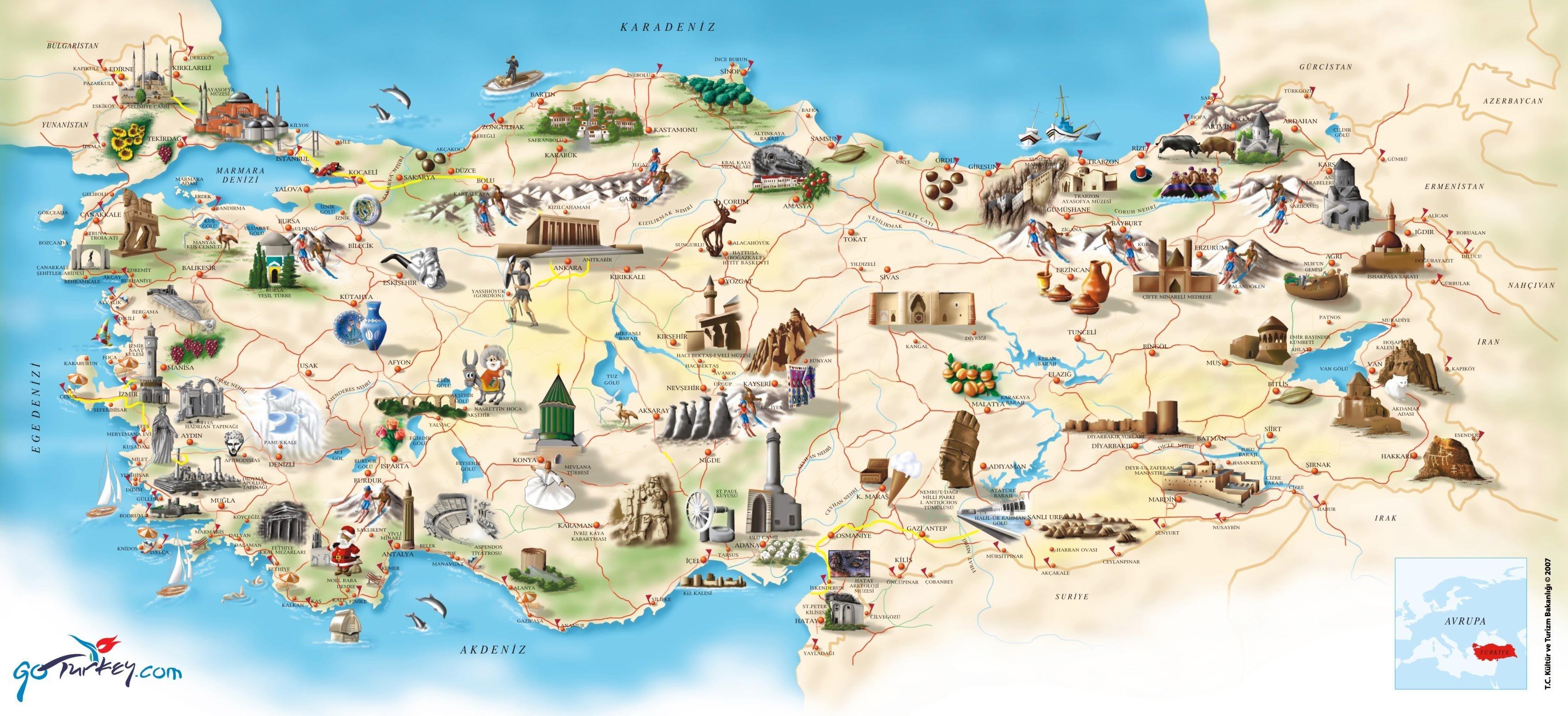 Türkiyenin Turizm Haritası
