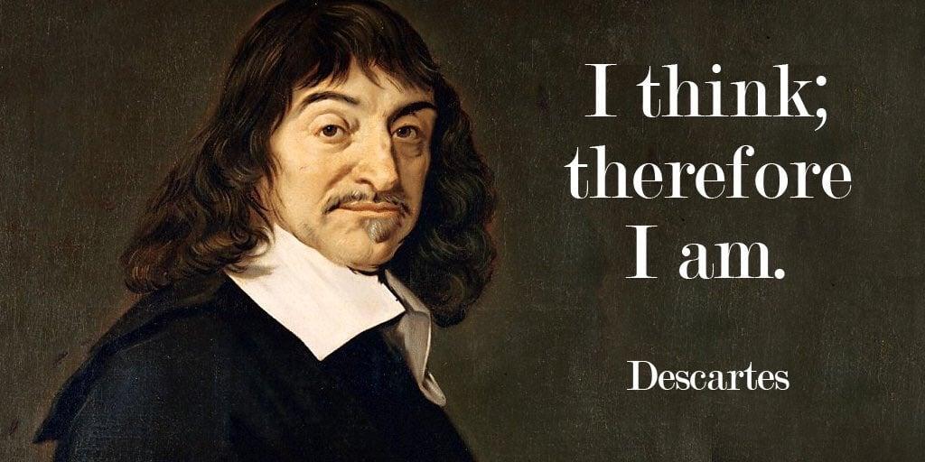 Düşünüyorum Öyleyse Varım Descartes Özlü Sözler Kartı