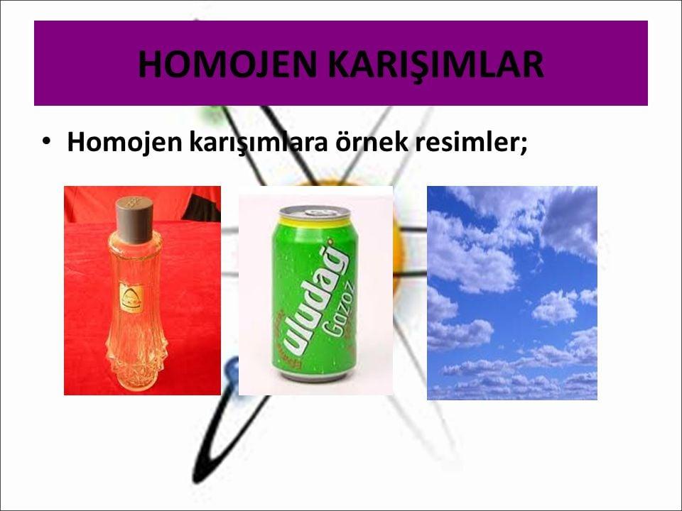 Homojen karışım örnekleri