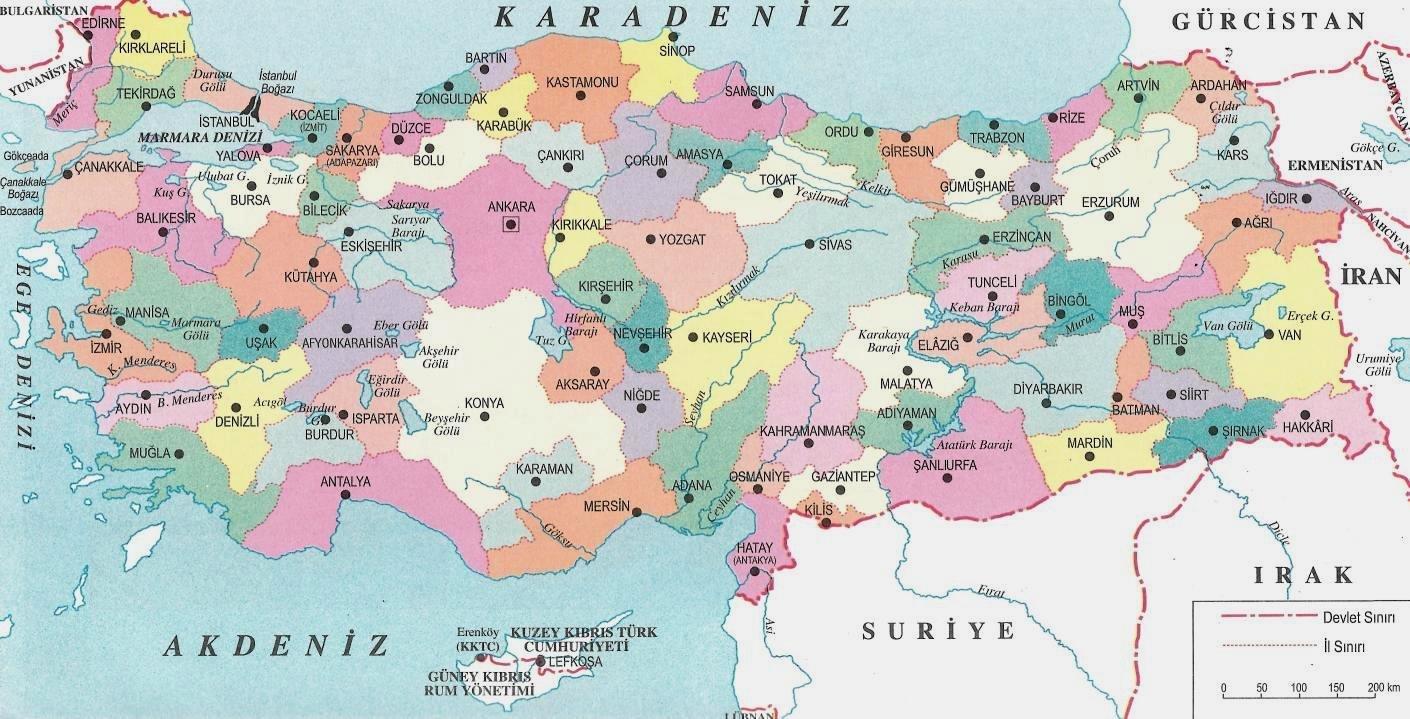 Siyasi ve İdari Haritalar