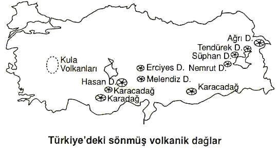 Türkiyenin volkanik dağları